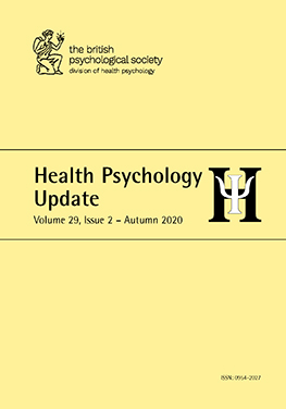 Health Psychology Update Vol 29 No 2 Autumn 2020 cover image