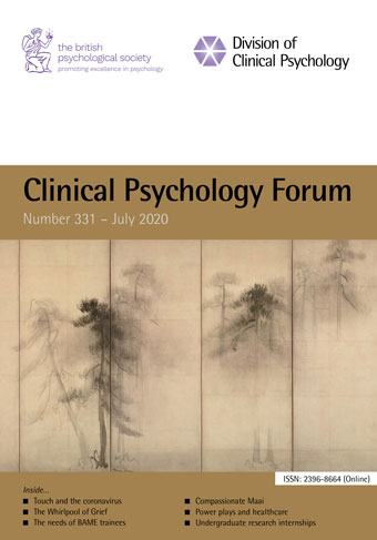 Clinical Psychology Forum No 331 July 2020 cover image