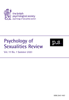 Psychology of Sexualities Review Vol 11 No 1 Summer 2020 cover image