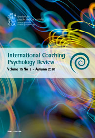 International Coaching Psychology Review Vol 15 No 2 Autumn 2020 cover image
