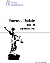 Forensic Update No 134 September 2020  cover image