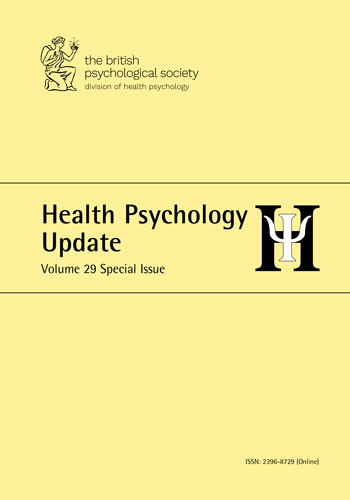 Health Psychology Update Vol 29 Special Issue 2020 cover image