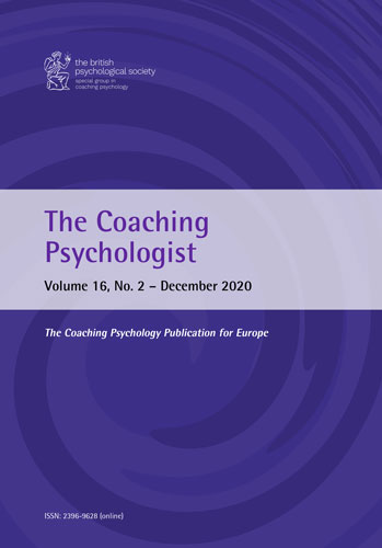 The Coaching Psychologist Vol 16 No 2 December 2020 cover image