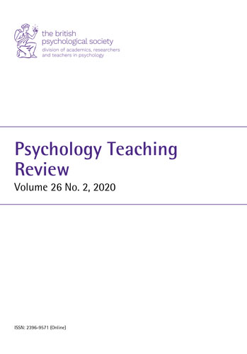 Psychology Teaching Review Vol 26 No 2 2020 cover image