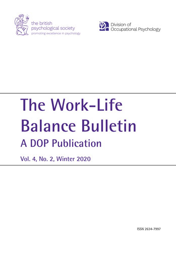 Work-Life Balance Bulletin: A DOP Publication Volume 4, No. 2 Winter 2020 cover image