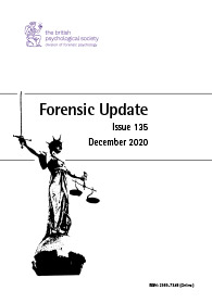 Forensic Update No 135 December 2020  cover image