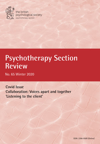 Psychotherapy Section Review No 65 Winter 2020 cover image