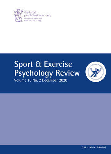 Sport & Exercise Psychology Review Vol 16 No 2 December 2020 cover image
