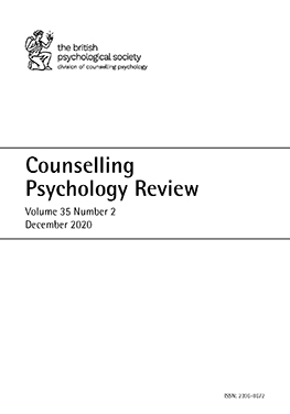 Counselling Psychology Review Vol 35 No 2 December 2020 cover image