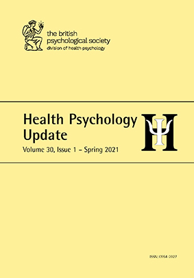 Health Psychology Update Vol 30 No 1 Spring 2021 cover image