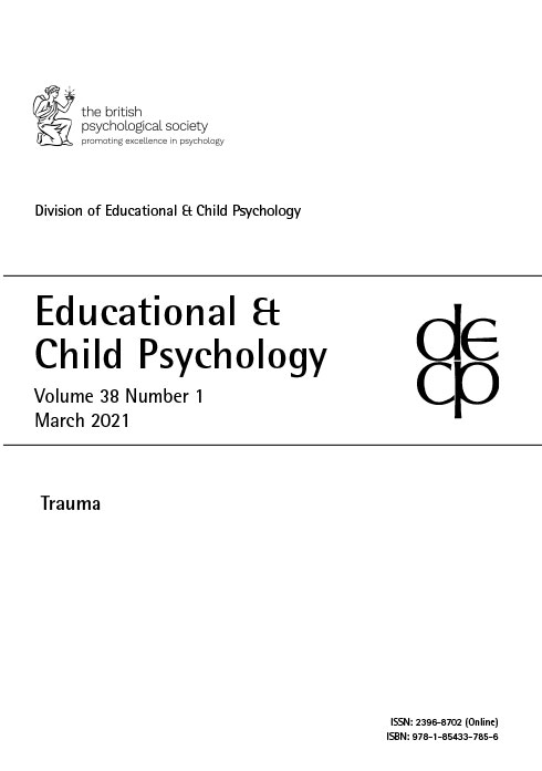 Educational & Child Psychology Vol 38 No 1 March 2021: Trauma cover image