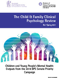 Child and Family Clinical Psychology Review No 7 Spring 2021 cover image