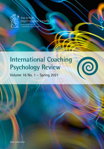 International Coaching Psychology Review Vol 16 No 1 Spring 2021 cover image