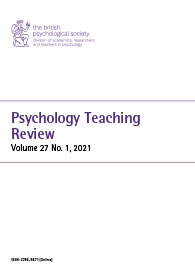 Psychology Teaching Review Vol 27 No 1 2021 cover image