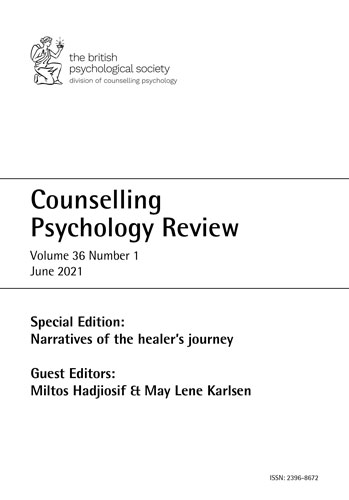 Counselling Psychology Review Vol 36 No 1 June 2021 cover image