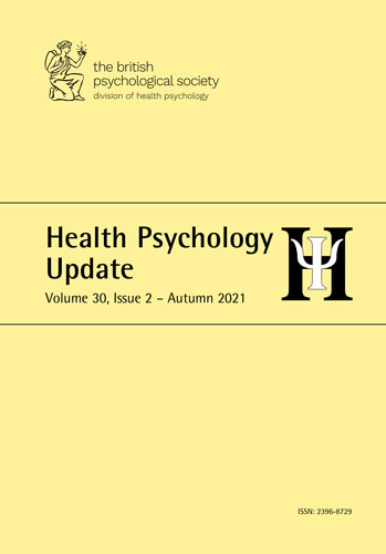 Health Psychology Update Vol 30 No 2 Autumn 2021 cover image