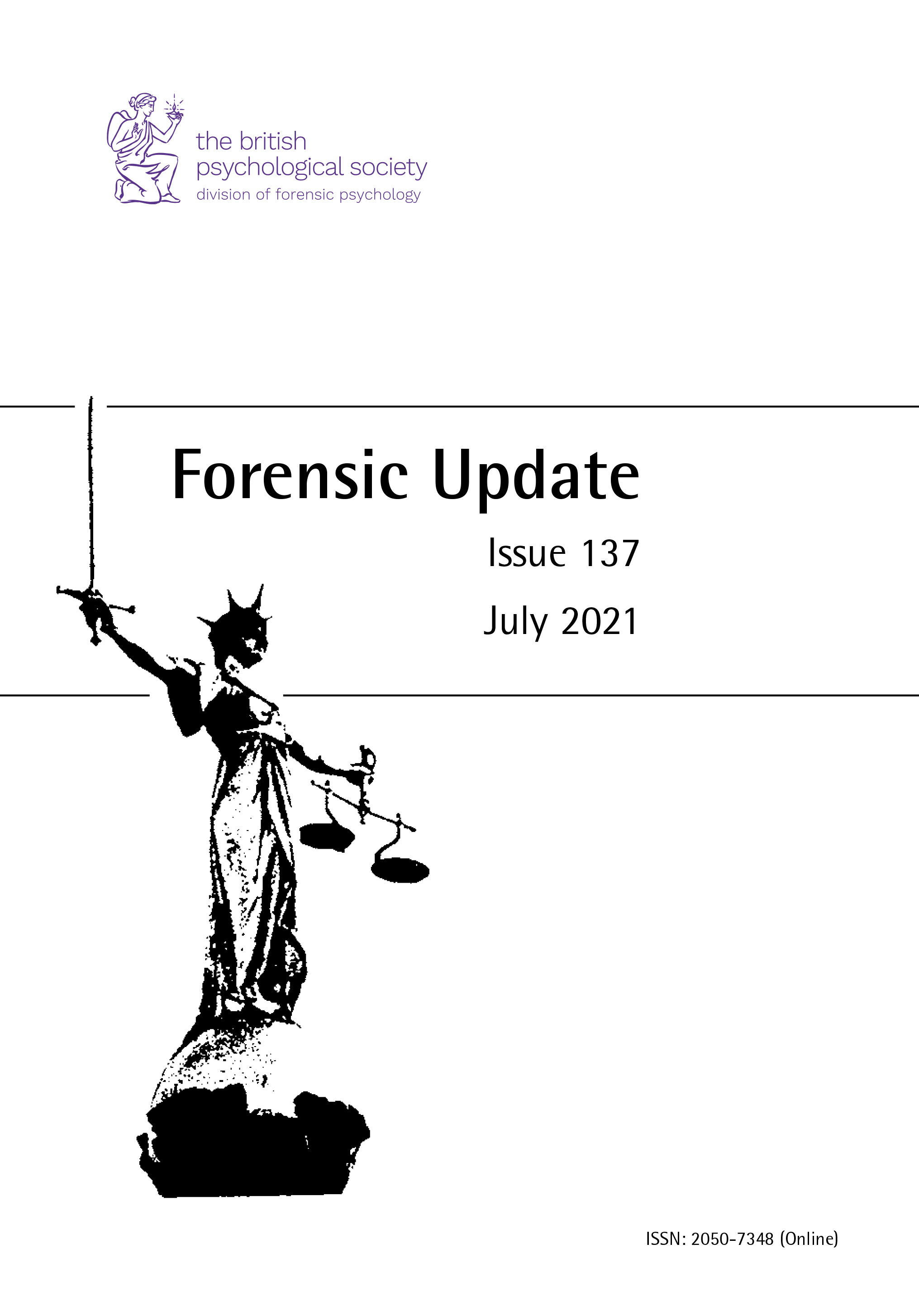 Forensic Update No 137 July 2021  cover image