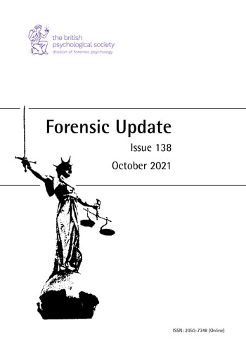 Forensic Update No 138 October 2021  cover image