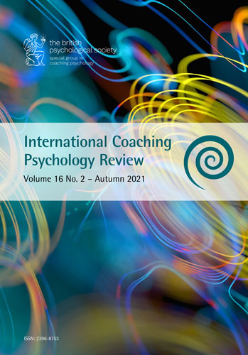 International Coaching Psychology Review Vol 16 No 2 Autumn 2021 cover image